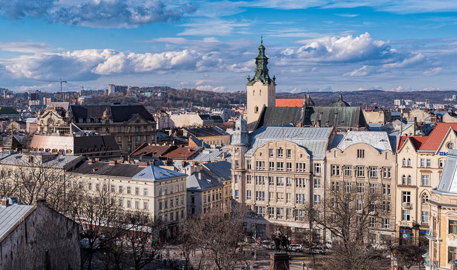 View of parts of Lviv